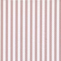 Napkins 33x33 cm - Klassik Streifen shiny rosé