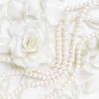 Servietten 33x33 cm - Petals & Pearls