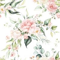 Servilletas 33x33 cm - Blush Pink Bouquet