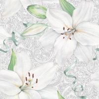 Servilletas 33x33 cm - White Lily with Ribbon