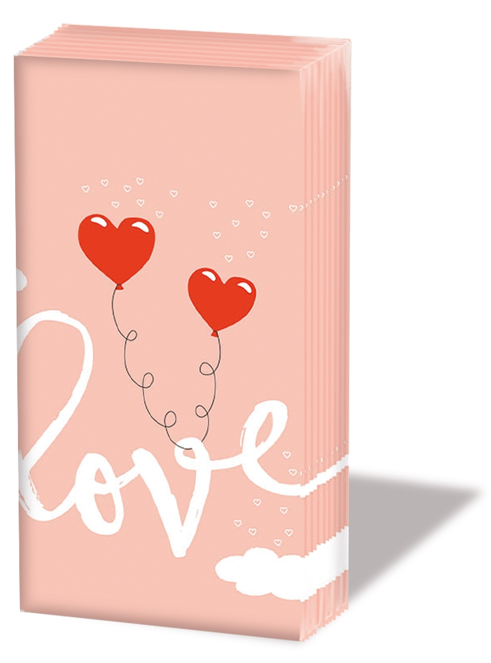 Handkerchiefs - Love Balloons Pale Rose