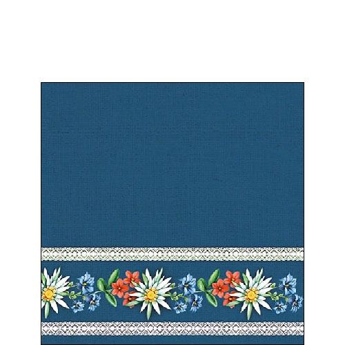 Napkins 25x25 cm - Bavarian Flowers Blue