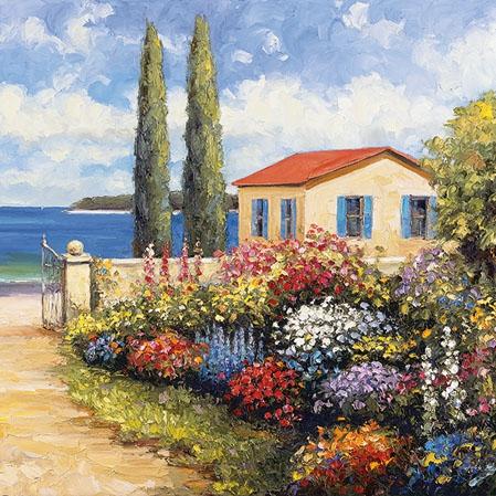 Napkins 25x25 cm - Florals by the Sea
