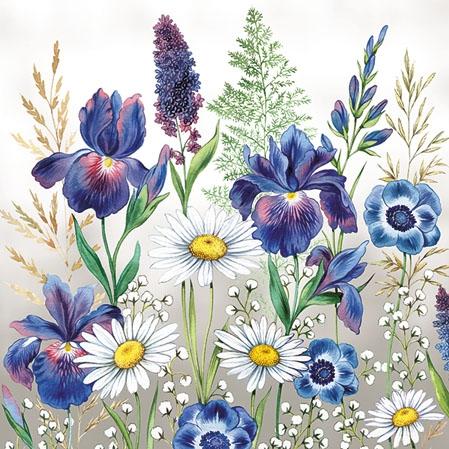Napkins 25x25 cm - Mixed Meadow Flowers