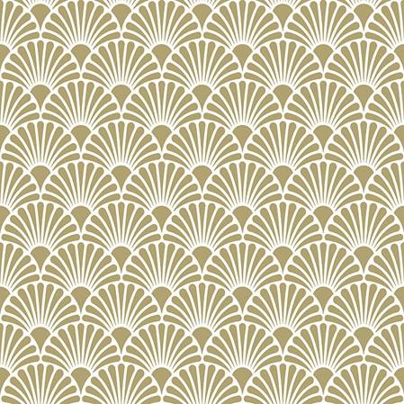 Servilletas 25x25 cm - Art Deco Gold/White