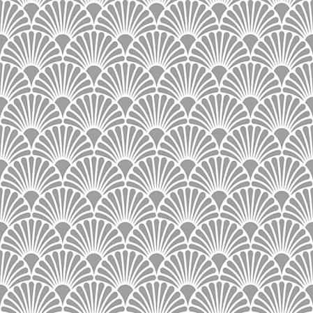 Servilletas 25x25 cm - Art Deco Silver/White