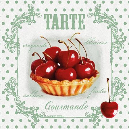 Napkins 25x25 cm - Tarte Red Cherries