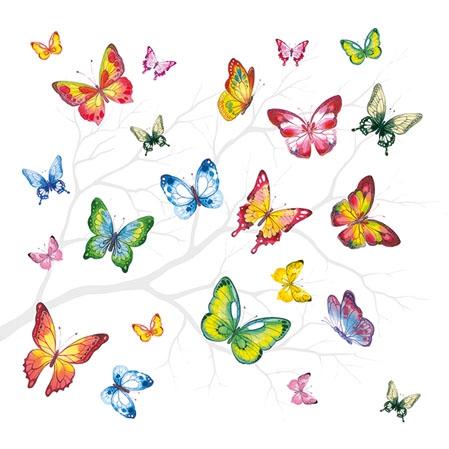 Napkins 25x25 cm - Colourful Butterflies