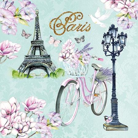 Napkins 25x25 cm - Bike In Paris