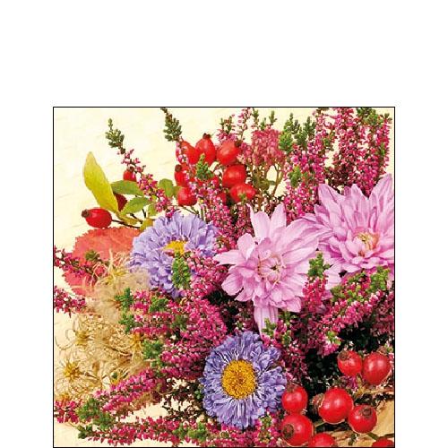 Napkins 25x25 cm - Autumn Flowers