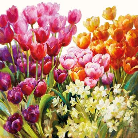Napkins 25x25 cm - Tulips