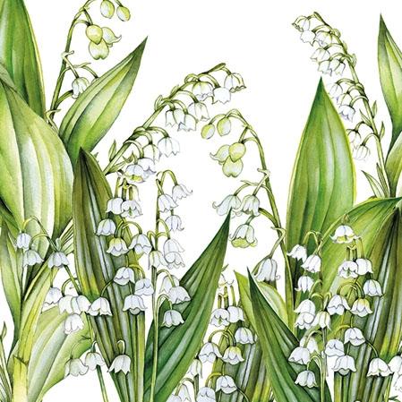Napkins 25x25 cm - Sweet Lily