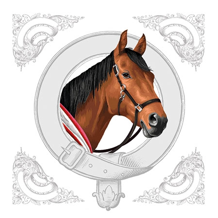 Napkins 25x25 cm - Classic Horse