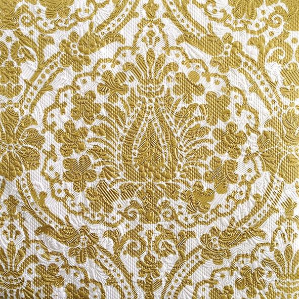 Servilletas 33x33 cm - Elegance Jaipur White/Gold