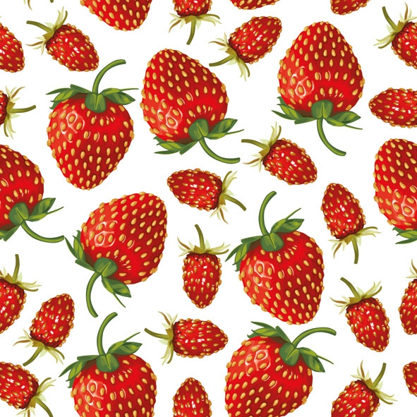 Napkins 33x33 cm - Strawberries