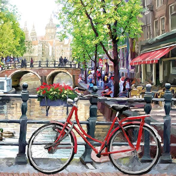 Салфетки 33x33 см - Amsterdam Canal