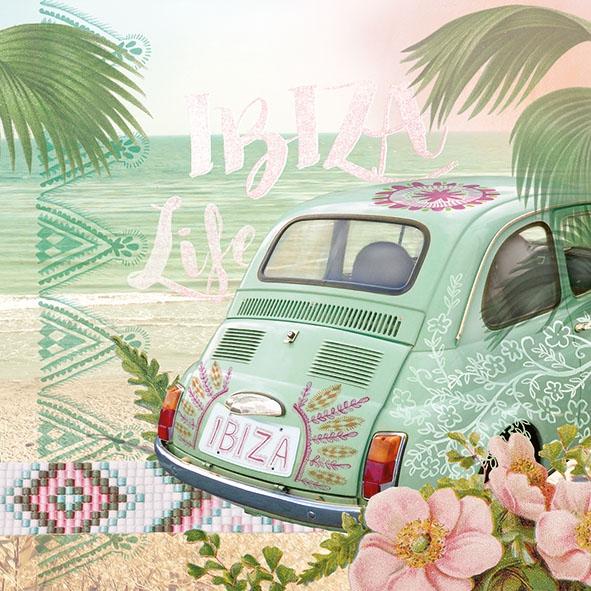 Napkins 33x33 cm - Ibiza Life