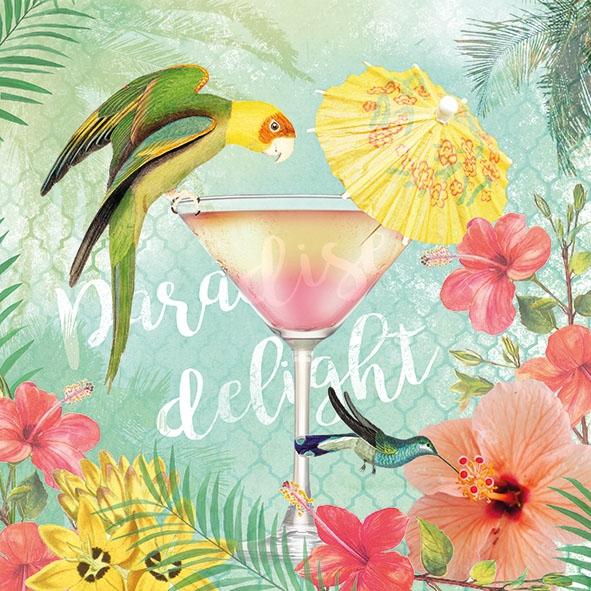 Napkins 33x33 cm - Paradise Delight