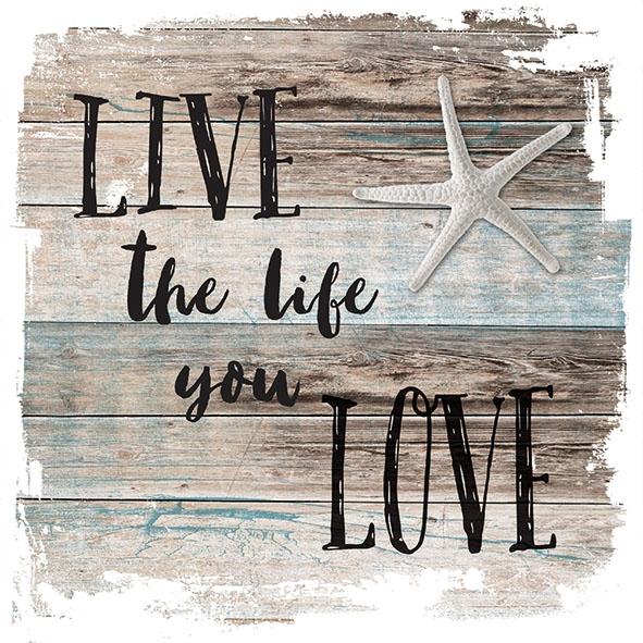 Serviettes 33x33 cm - Live The Life