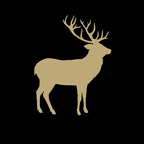 Servilletas 33x33 cm - Deer Contour Black/Gold