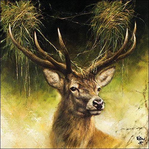 Napkins 33x33 cm - Proud Deer