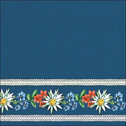 Servilletas 33x33 cm - Bavarian Flowers Blue