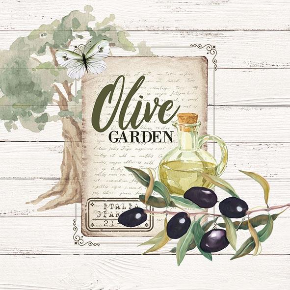 Serwetki 33x33 cm - Olive Garden