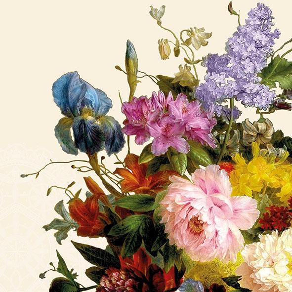 Napkins 33x33 cm - Still Life Bouquet Cream
