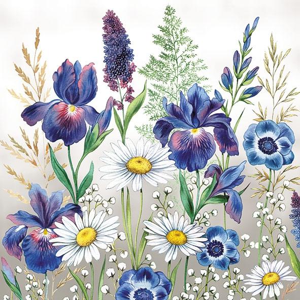 Servilletas 33x33 cm - Mixed Meadow Flowers