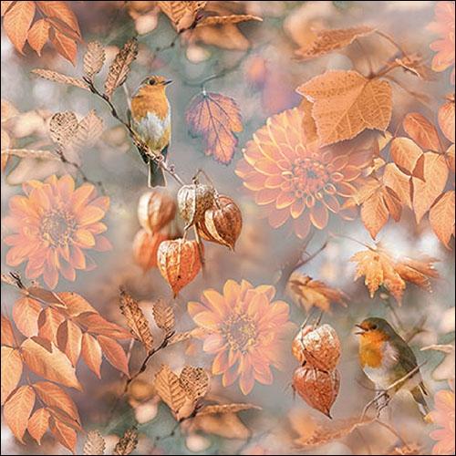 Napkins 33x33 cm - Orange Autumn