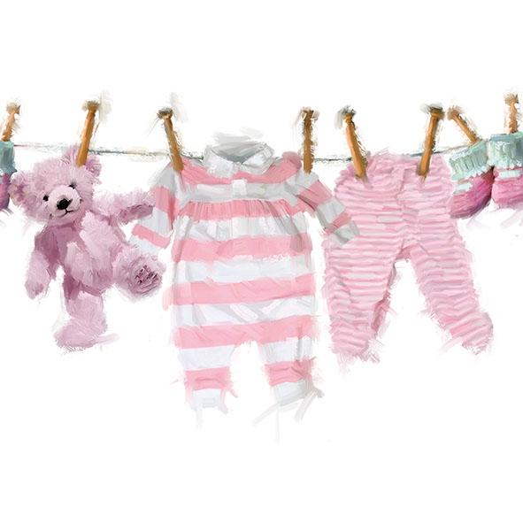Servilletas 33x33 cm - Baby Girl Clothes