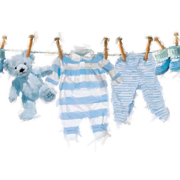 Servilletas 33x33 cm - Baby Boy Clothes