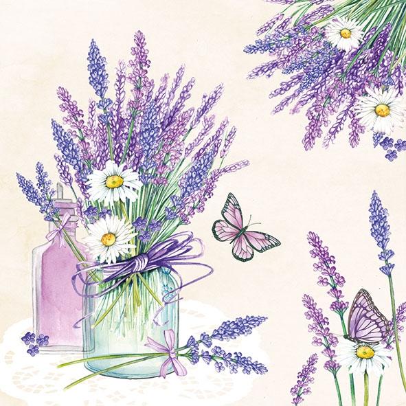 Servilletas 33x33 cm - Lavender Jar Cream