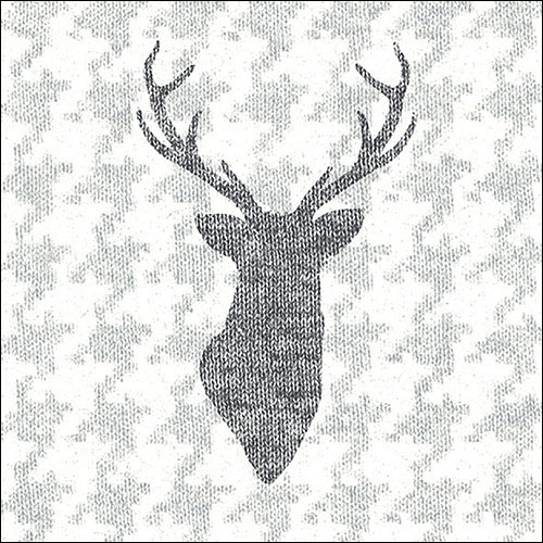 Napkins 33x33 cm - Deer Knitted