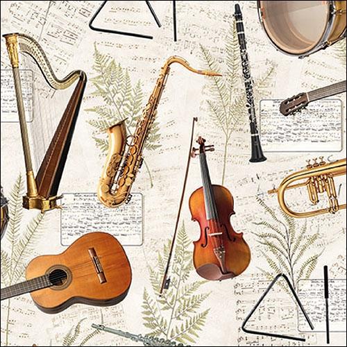 Servilletas 33x33 cm - Music
