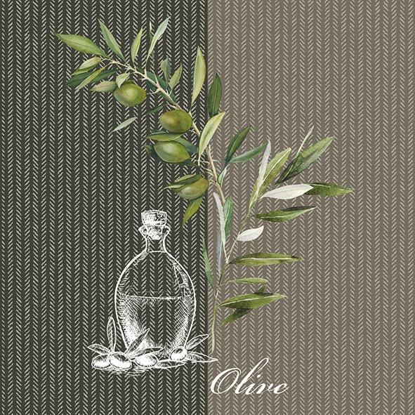 Serwetki 33x33 cm - Oil And Olives