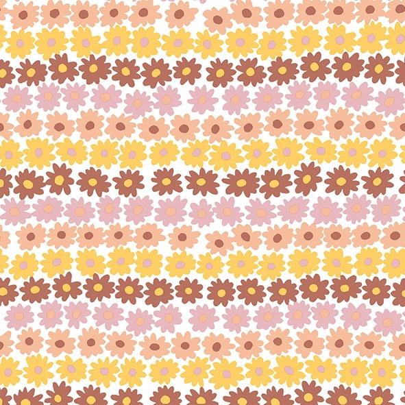 Serwetki 33x33 cm - Happy Flowers Brown