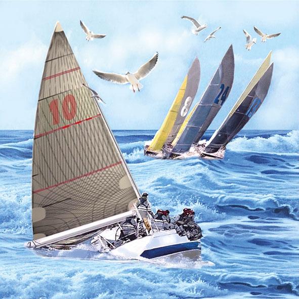 Serwetki 33x33 cm - Sailboats