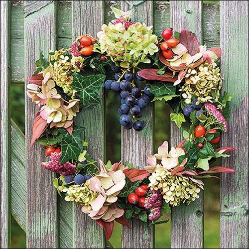 Napkins 33x33 cm - Autumn Wreath