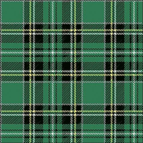 Napkins 33x33 cm - Scottish Green