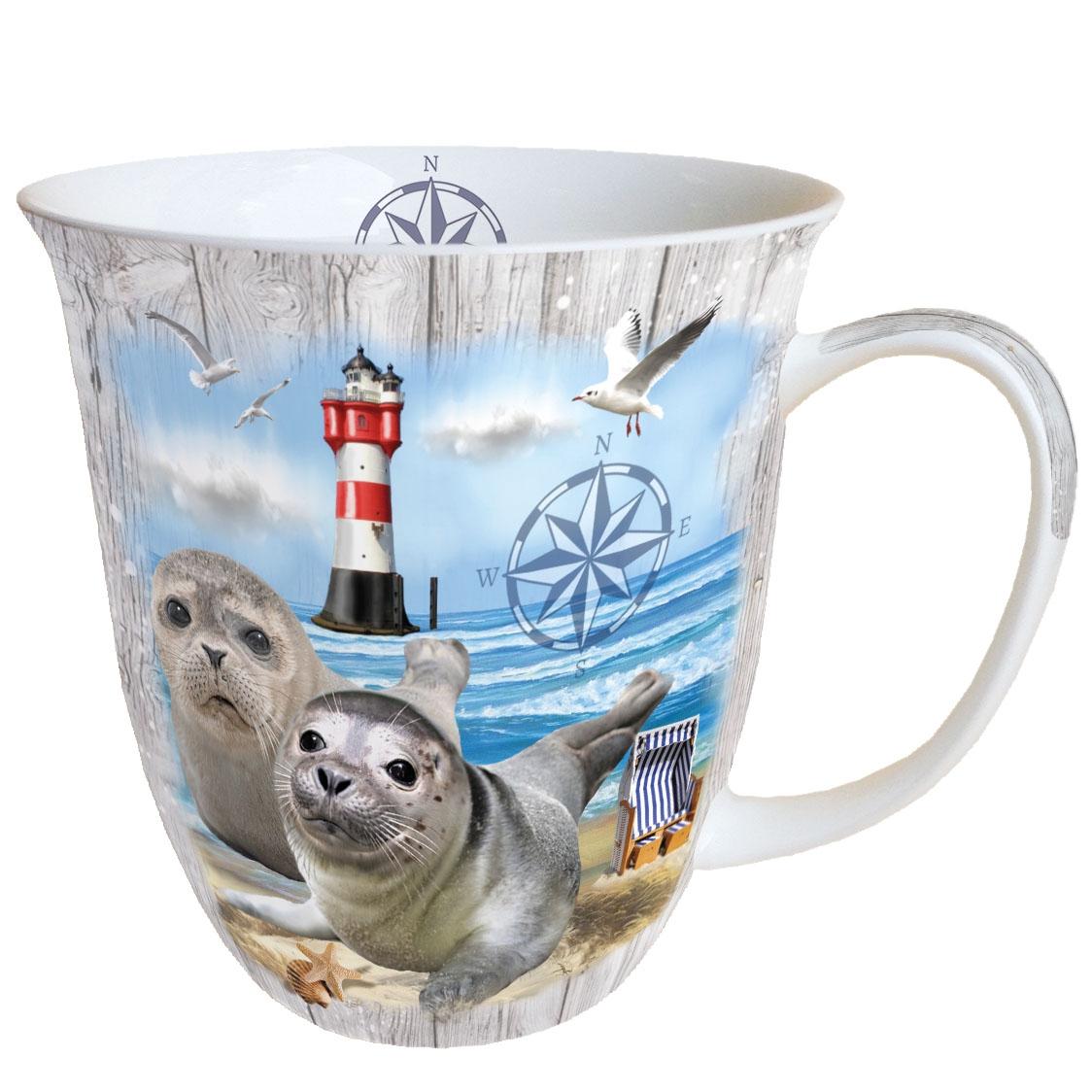 Taza de porcelana - Seal Couple