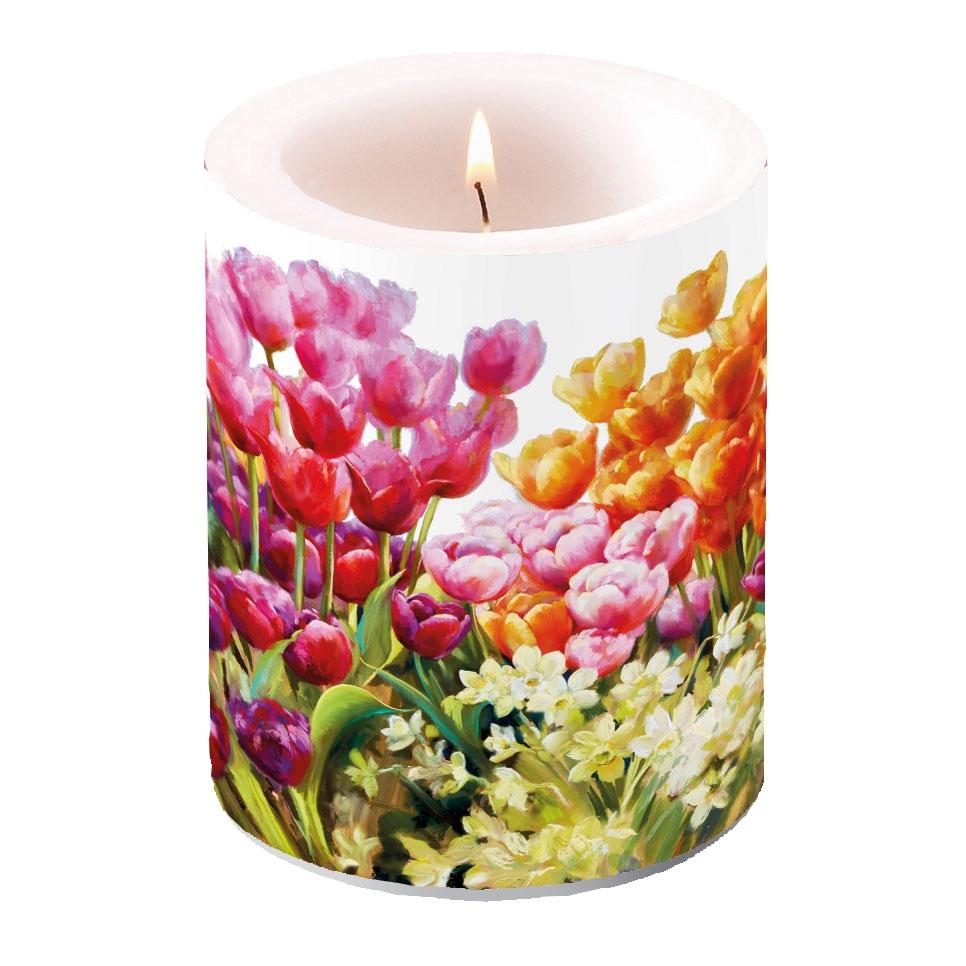 vela decorativa - Tulips