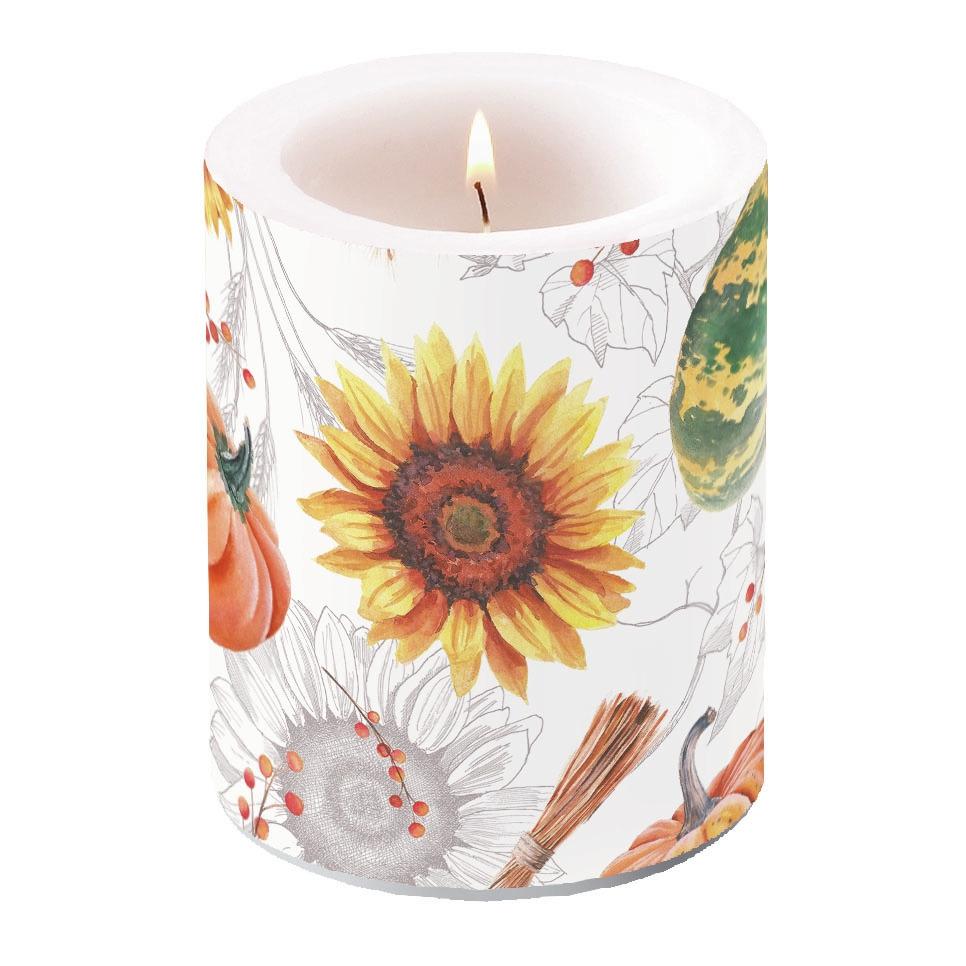 vela decorativa - Pumpkins & Sunflowers