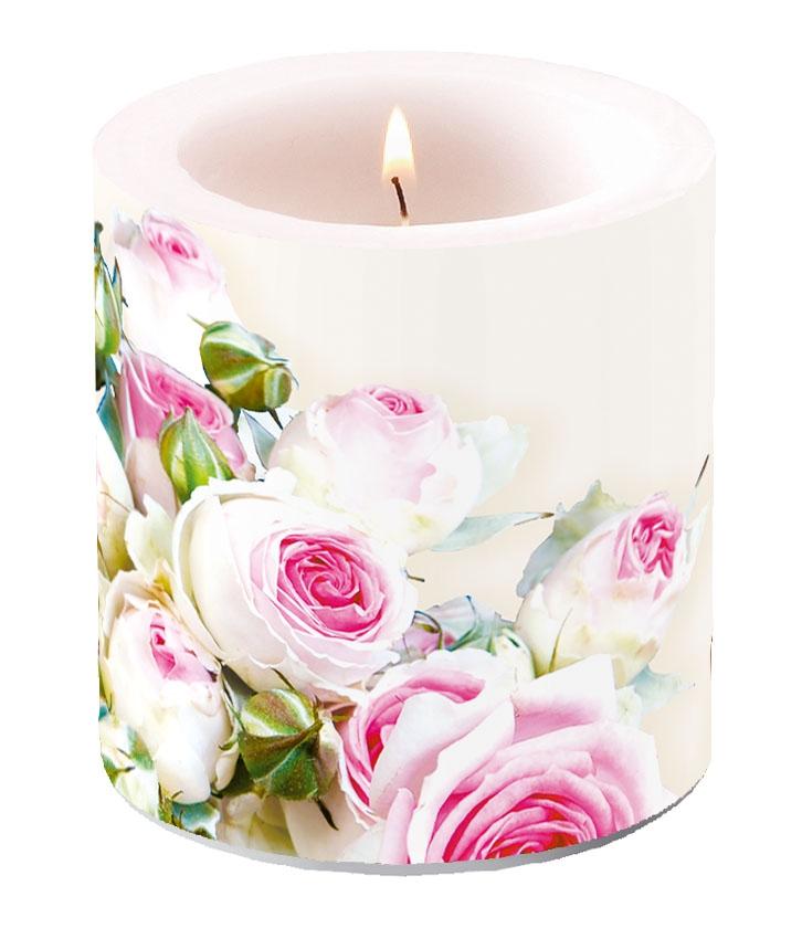 Decorative candle small - Maxima Cream