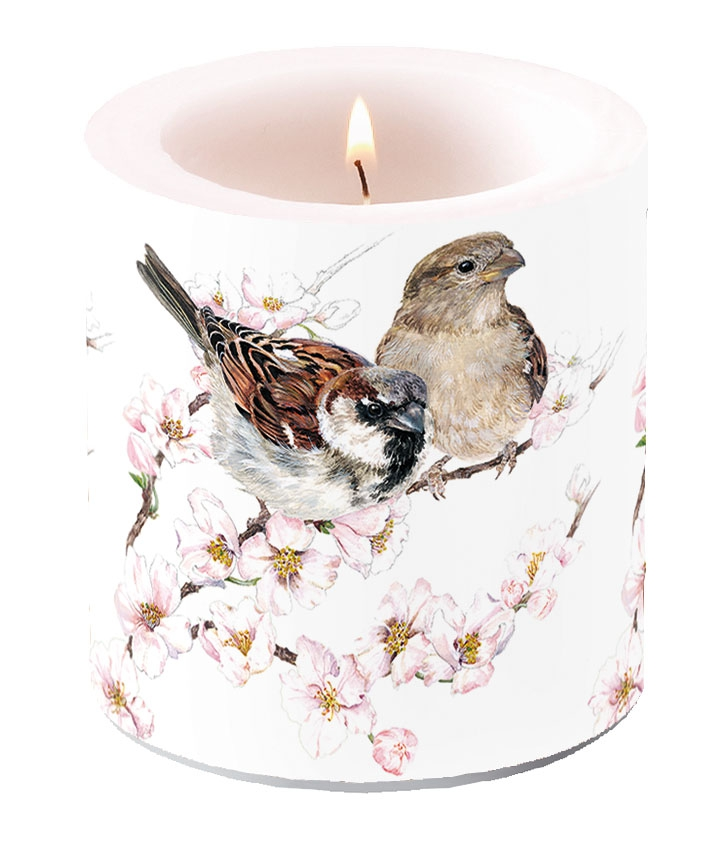 Decorative candle small - Sparrows Blossom