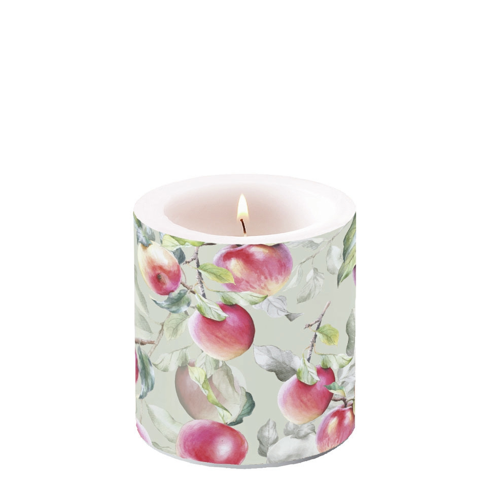 Decorative candle small - Fresh Apples Green
