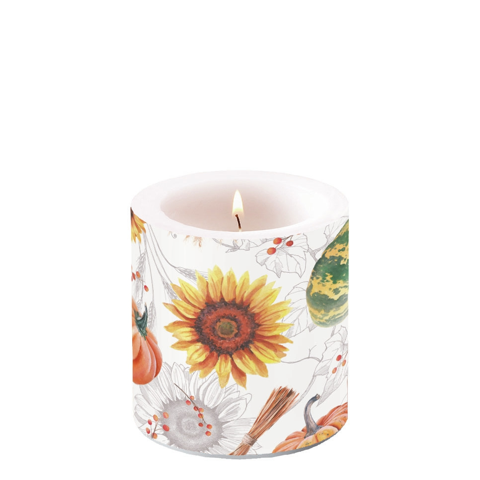 Decorative candle small - Pumpkins & Sunflowers