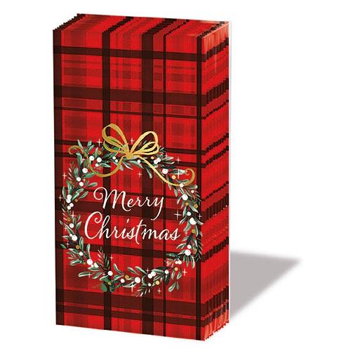 Chusteczki do nosa - Christmas Plaid Red