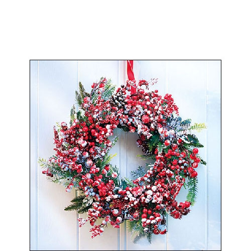 Napkins 25x25 cm - Frozen Wreath