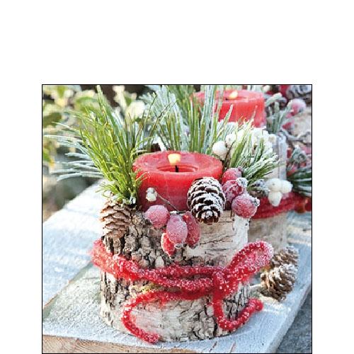 Napkins 25x25 cm - Frozen Candle